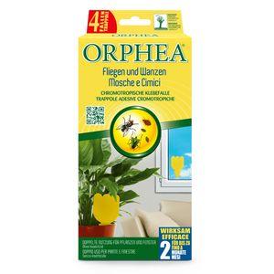 Orphea Fliegenfalle Klebefalle, Gelbfalle für Pflanzen und Fenster gegen Trauermücken, Fruchtfliegen, Wanzen, etc., ohne Insektizide
