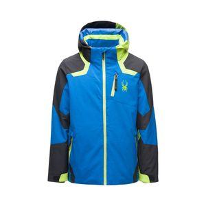 Spyder Kinder Jungen Ski-Winter-Jacke Primaloft Füllung Leader blau grün, Größe:152