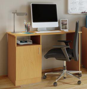 """VCM Schreibtisch Computertisch Arbeitstisch Büro Möbel PC Tisch """"Desas"""" Buche"""