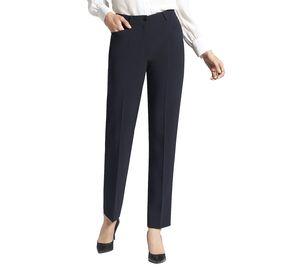 BASLER Anzug-Hose elegante Damen Business-Hose mit Beinfalte und Gürtelschlaufen Marine, Größe:40
