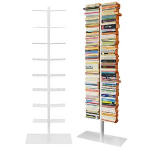 Radius Booksbaum Regal weiss mit Stand gross - 717 b