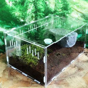 Klein (kein Hygrometer) S individuelles Haustier Reptilien transparente Acryl pet Acrylbox Reptilien Terrarium klettert Zufuhrkassette Hersteller Großhandel