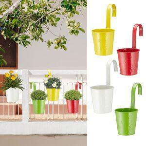 """4er Set Übertopf """"Springflower"""" zum Hängen mit Muster, 11cmD, in 4 verschiedenen Farben"""