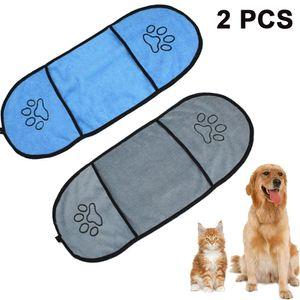 Mikrofaser Haustier Badetuch  Ultra Saugfähige Haustier Handtücher Hundehandtuch - Die Mit Gestickten Paw Trocknen-Prämie Handtuch für Katze Hündchen und Andere Klein Tiere
