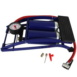 Fußluftpumpe Doppel-Zylinder - Fußpumpe - Fahrradluftpumpe