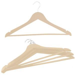 15 Stück Holz Kleiderbügel mit Hosenstange und Rockkerbe Holz Kleiderbügel