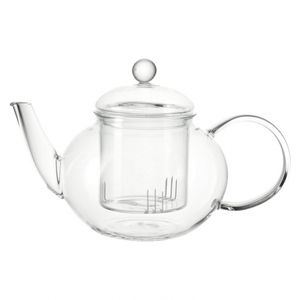 montana 57688 Teekanne 'Yogi' Glas, mit Sieb, 1 l, 14 x 23,2 x 14 cm, klar