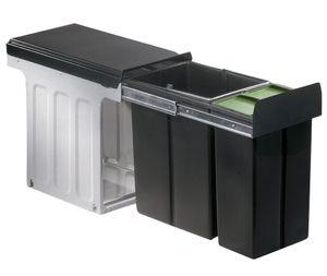 Wesco Mülleimer Küche, Einbau 30 cm Schrank, 2-fach Abfalleimer