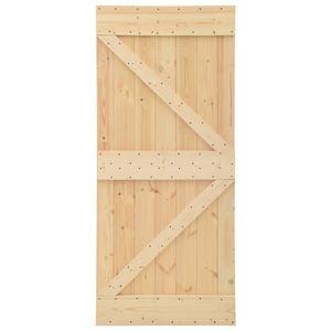 vidaXL Tür 90x210 cm Kiefer Massivholz