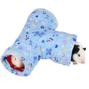 Zusammenklappbarer Spielzeugtunnel fš¹r Kleintiere fš¹r Hamster-Meerschweinchen-Chinchillas