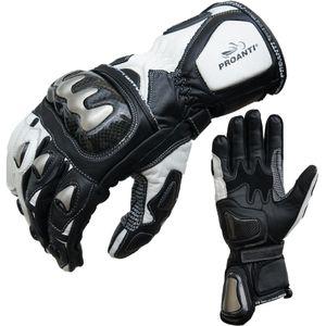 Motorradhandschuhe Racing Pro weiß von PROANTI® - Größe M