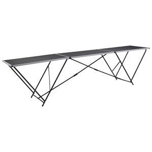 Chunhe Tapeziertisch Wandklapptisch Bartische Esstisch Tapeziertisch Klappbar MDF und Aluminium 300x60x78 cm