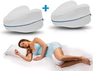 Leg Pillow 2 Stück, Komfort für Seitenschläfer, ergonomisches Knie- und Beinruhekissen, stützt Ihre Knie & Beine, Memory Foam Kissen