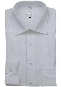 Olymp Comfort Fit Hemd Langarm Popeline Weiß 0254/64/00, Größe: 44