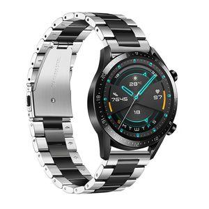 22mm Uhrenarmband Edelstahl Uhrenarmband Armband Ersatz Kompatibel mit HUAWEI UHR GT2 46mm / HONOR MagicWatch2 46mm / HONOR MagicWatch