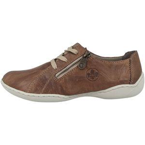 Rieker Damen Halbschuhe Sneaker Schnürschuhe 58821, Größe:39 EU, Farbe:Braun