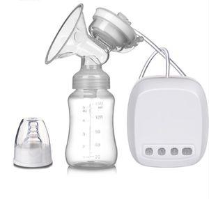 Elektrische Milchpumpe Brustpumpe, Einzel Muttermilch Abpumpen inkl. Schnuller aus Silikon mit Massage & Absaugung