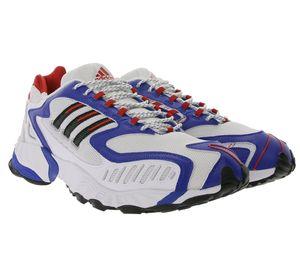 adidas Originals Torsion TRDC angesagte Herren Lauf-Schuhe im Retro Style Weiß/Blau/Rot, Größe:44 2/3