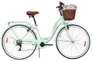 PolBaby MalTrack Fahrrad Citybike Dreamer 6-Gang-Fahrrad Mint 28 Zoll City Bike