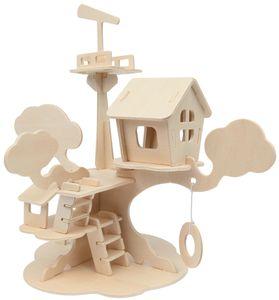 "Marabu KiDS 3D Puzzle ""Baumhaus"" 37 Teile Holzbausatz"