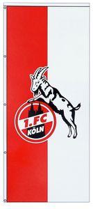 "1. FC Köln Hissfahne Fahne  ""Logo"" 350x150 cm (hoch)"