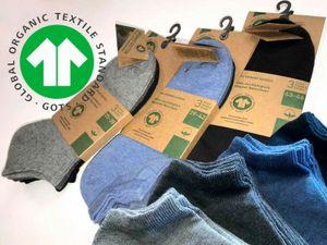 9 Paar Sneaker Socken 98% Bio Baumwolle kbA Biosocken Organic Cotton Damen Herren Unisex Gr. 43/46