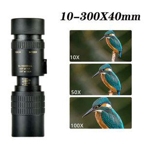 10-300 × 40 Standard-Teleskopzoom Monokular, einziehbarer Zoom, hohe HD-Vergrößerung