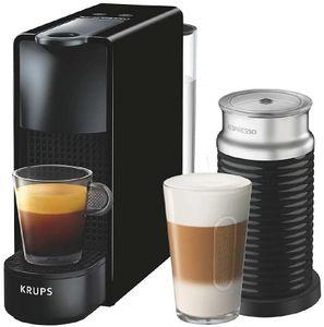 Krups XN1118 Essenza Mini Nespressomaschine inkl Aeroccino 3 Aufschäumer, Farbe:Schwarz