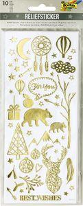 folia Relief-Sticker WEIHNACHTEN Blattformat: 100 x 240 mm 10 Blatt