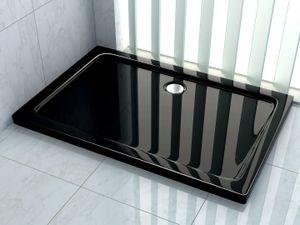 Duschtasse 120 x 100 cm (schwarz)