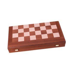 Mahagoni Combo Schach - Dame - Backgammon Set - 38 x 20 cm  Spitzenqualität