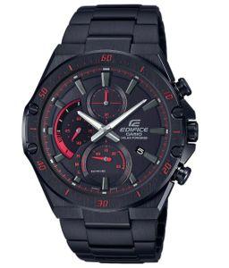 Casio Edifice EFS-S560DC-1AVUEF Herren Uhr Solar Analog Chronograph Schwarz Rot