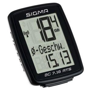 Sigma Fahrradcomputer BC 7.16 ATS Schwarz 7162