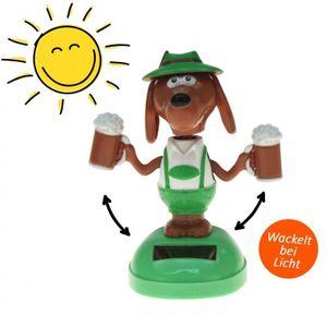 Solar Wackelfigur - dancing beer dog