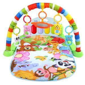 Baby Pedal Piano,Musik Erlebnisdecke,baby Spielmatte, Fitness Krabbeldecke mit weichem Spielbogen und Piano