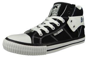 British Knights Herren High Sneaker Roco B47-3708-04 Schwarz  Black Textil, Groesse:43 EU
