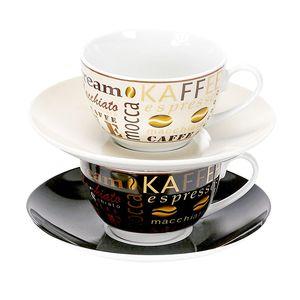 Flirt by R&B 548143 Havanna Cappuccino-Set, je zwei Tassen und Untertassen, 2-teilig (1 Set)
