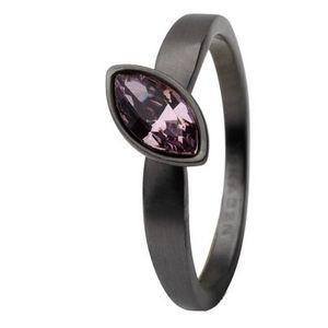 Skagen Damen Ring Schwarz JRSM034, Ringgröße:57 (18.1) SS8 M47