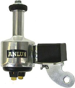 ANLUN Dynamo SB-verpackt Gehäuse Aluminium, silber eloxiert 6 V / 3 W, mit Doppelanschluss (+ und -) und Gummilaufrolle, ohne Überspannungsschutz Rechtsanbau