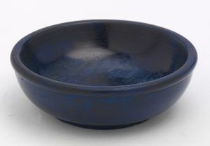Räucherschale, Weihrauchschale aus Specksten in Blau Ø 10,5 cm für Räucherkohle