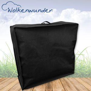 Wolkenwunder Tasche für Klappmatratze zum Transport oder Aufbewahrung - schwarz, Größe:190x63x8cm
