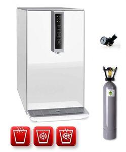Auftisch-Tafelwasseranlage BLACK & WHITE HOT DIAMOND (Option CO2 Eigentumsflasche: 6kg CO2 Flasche / Farbe: weiß)