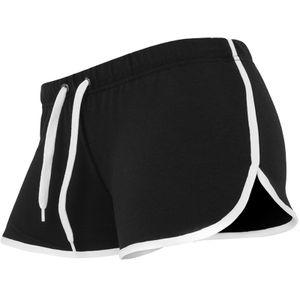 Urban Classics Ladies French Terry Hotpants Frauen Kurze Jogginghose, Größe: M; Farbe: Black/White