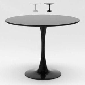Rund Tisch 80x80 cm Inneneinrichtung Kaffee Bistro Lokale Weiß Schwarz TulipFarbe: Schwarz, Tischform: Round, Höhe (cm): 73,5, Breite (cm): 80, Zusammensetzung: MDF, Länge (cm): 80