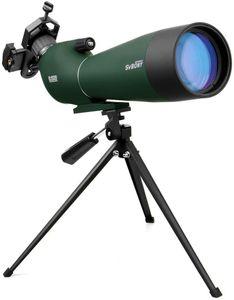 Svbony SV28 Spektiv, 20-60x80 Spektiv Vogelbeobachtung mit Stativ Handy Adapter, BAK-4 Prisma Abgewinkelt Okular IP65 Wasserdicht Spektiv Monocular für Sportschützen Tierbeobachtung Jagd