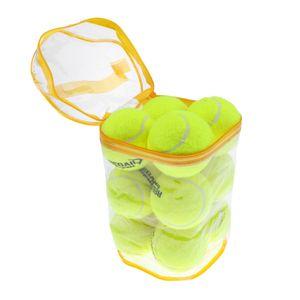 12pcs Tennisbälle mit Mesh Tragetasche, Tennis Training ball, ideal für Tennis-Unterricht, Praxis, Wurfmaschinen und spielen mit Haustieren