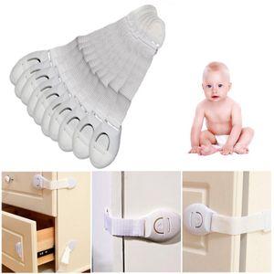 10stk Schubladensicherung Kindersicherung Schutz Rechter Winkel Schrankschloss für Schubladen&Schränke