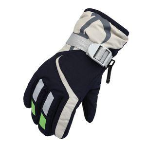 draussen Skihandschuhe für Kinder wasserdicht Winterwarme Handschuhe Einheitsgröße Navy blau