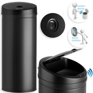 Kesser® Automatik Sensor Mülleimer Abfalleimer Abfall EDELSTAHL Papierkorb, Liter:56 Liter, Farbe:56 Liter SCHWARZ