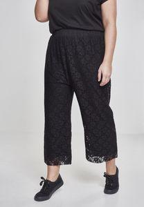 Urban Classics TB2236  Ladies Laces Culotte, Größe:XL, Farbe:Black